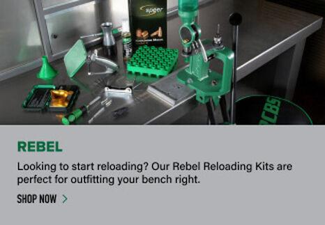 Rebel Kit displayed on reloading bench