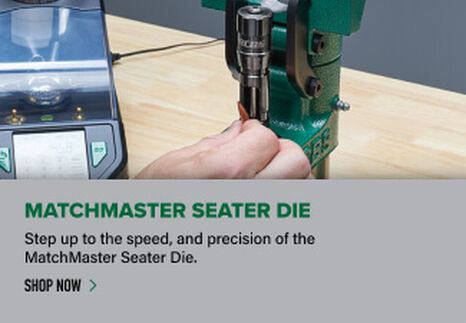 Reloader using MatchMaster Seater Die in press