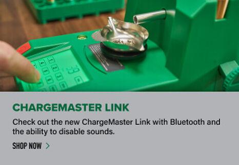 ChargeMaster Link Powder Dispenser displayed on reloading bench