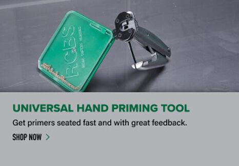 Hand Priming Tool displayed on reloading bench