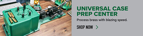 Universal Case Prep Center displayed on reloading bench