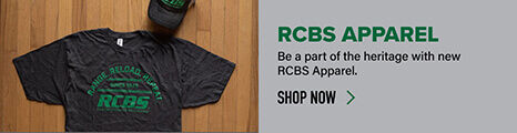RCBS Apparel on wooden background