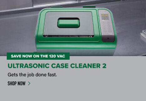Ultrasonic Case Cleaner 2 displayed on reloading bench